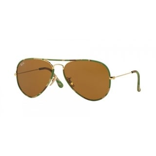 Ray-Ban RB3025JM 169 Aviator Full Color Camouflage Frame Brown Classic 55mm Lens Sunglasses