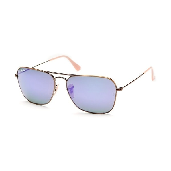 f6acd5e60c080 Ray-Ban RB3136 167 1M Bronze Copper Frame Violet Mirror 58mm Lens Sunglasses