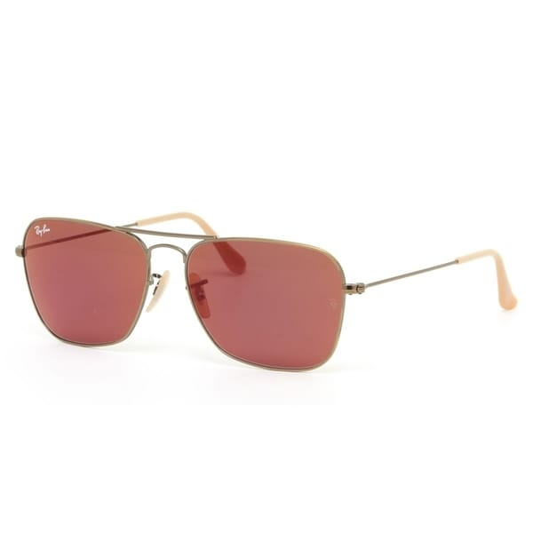 81e3a92379 Ray-Ban RB3136 167 2K Bronze Copper Frame Red Mirror 58mm Lens Sunglasses