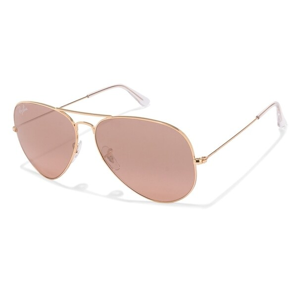 861b1ac264 Ray-Ban RB3025 001 3E Aviator Gradient Gold Frame Silver Pink Mirror 62mm