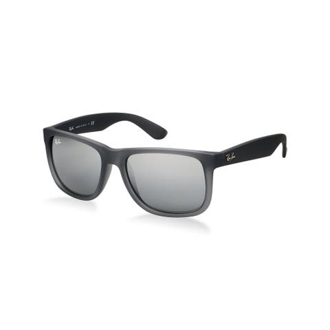 Ray-Ban RB4165 852/88 Justin Classic Grey Frame Silver Gradient Mirror 55mm Lens Sunglasses