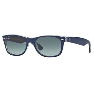 Ray-Ban RB2132 605371 New Wayfarer Color Mix Blue/Clear Frame Grey Gradient 52mm Lens Sunglasses