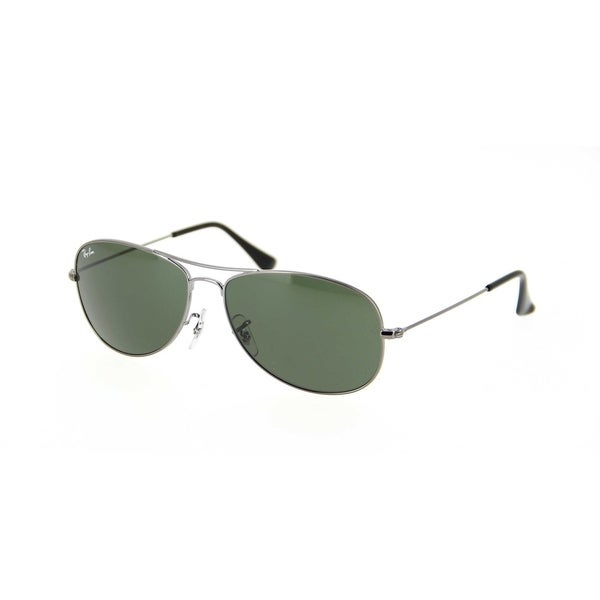 9222f22032 Ray-Ban RB3362 004 Cockpit Gunmetal Frame Green Classic 59mm Lens Sunglasses