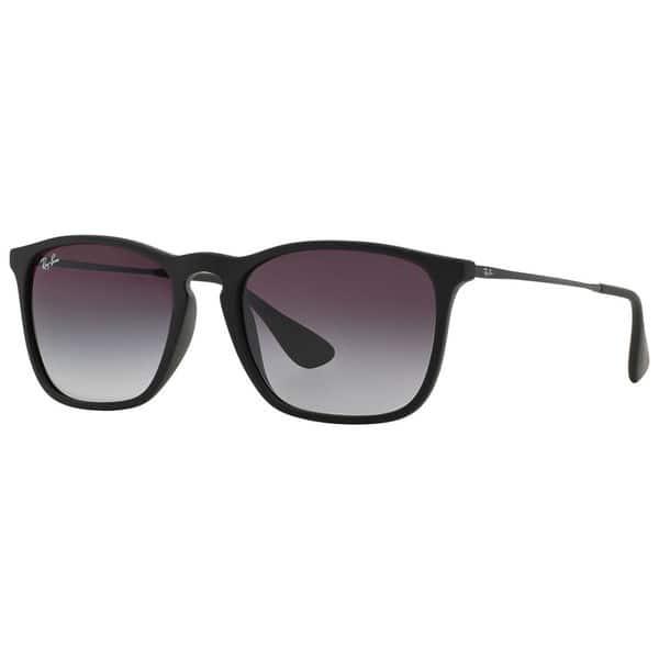 Ray Ban Rb4187 622 8g Chris Black Frame Grey Gradient 54mm Lens Sunglasses Overstock 14442384
