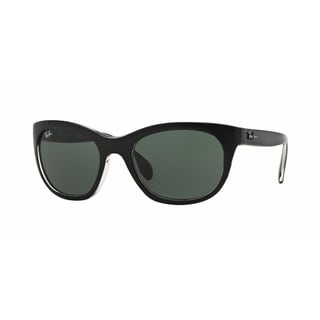 Ray-Ban RB4216 605271 Black/Clear Frame Green Classsic 56mm Lens Sunglasses