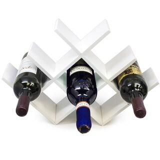 wine rack. Butterfly White Wood Wine Rack