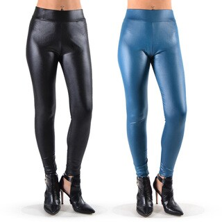 Juniors' Faux-leather Leggings (Set of 2)