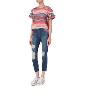 Saloni Women's Dawn Striped Ruffle Top