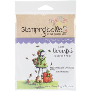 "Stamping Bella Cling Stamp 6.5""X4.5""-Tiny Townie Fay Loves Fall