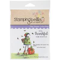 "Stamping Bella Cling Stamp 6.5""X4.5""-Tiny Townie Fay Loves Fall"