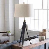 Yardley Table Lamp with Black Base and White Shade