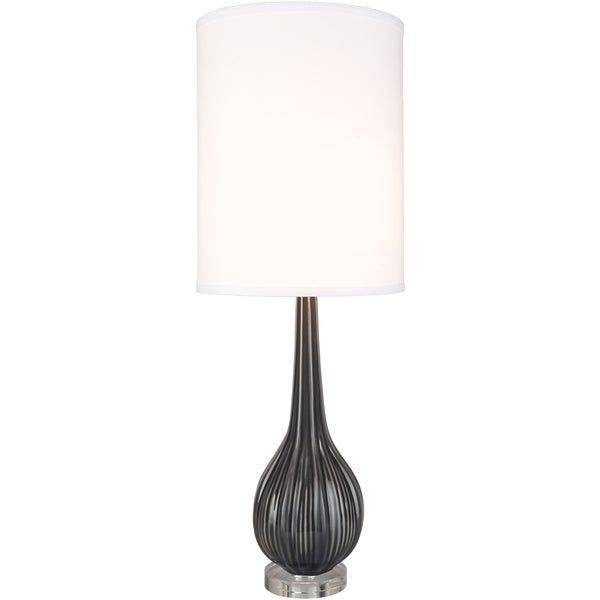 Swales Table Lamp with Black Base and White Shade