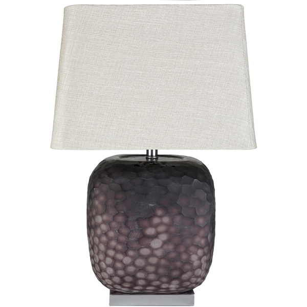 Karayan Table Lamp with Purple Base and Off-White Shade