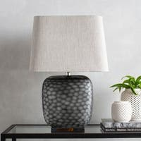 Timete Table Lamp with Black Base and Off-White Shade