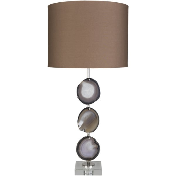 Dabbles Table Lamp with Brown Base and Brown Shade