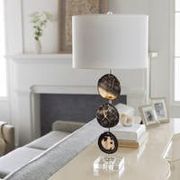 Kezden Table Lamp with Black Base and White Shade
