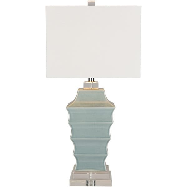 Doddington Table Lamp with Blue Base and White Shade