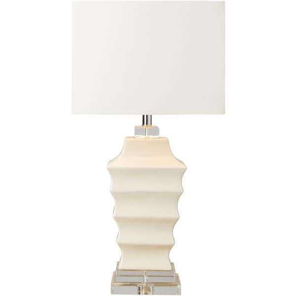 Senoen Table Lamp with White Base and White Shade