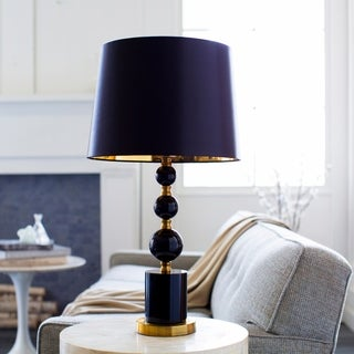 Berion Table Lamp with Black Base and Black Shade