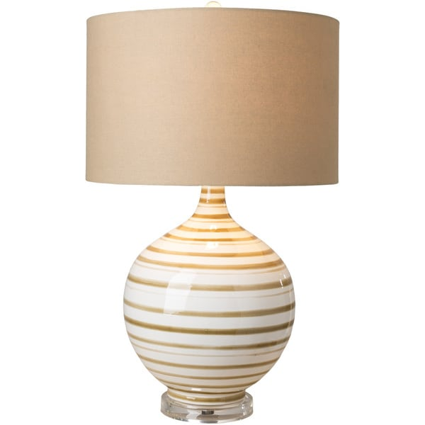 Siavra Table Lamp with Tan Base and Tan Shade