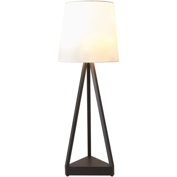 Aklot Table Lamp with Black Base and White Shade