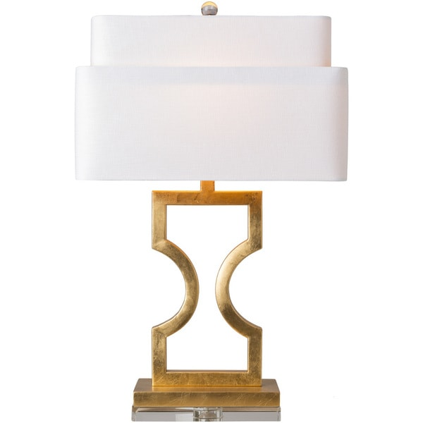 Tithil Table Lamp with Gold Base and White Shade