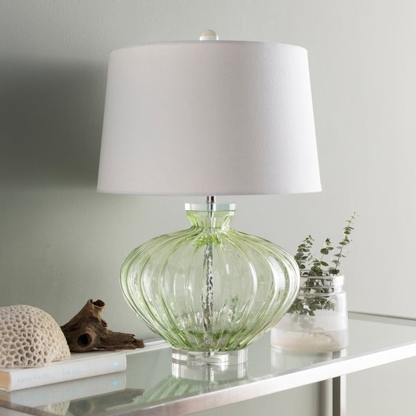 Howley Clear Green Glass 23.5-inch Table Lamp