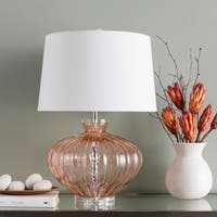 Howley Clear Coral Glass 23.5-inch Table Lamp