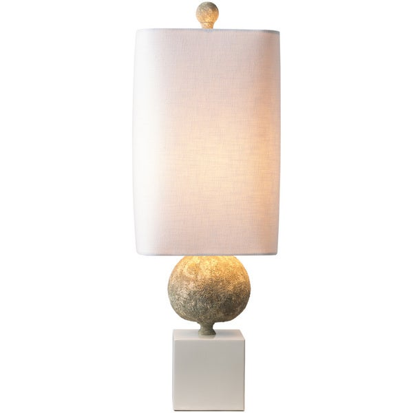Taj Table Lamp with Beige Base and White Shade