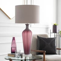 Lienz Table Lamp with Purple Base and White Shade