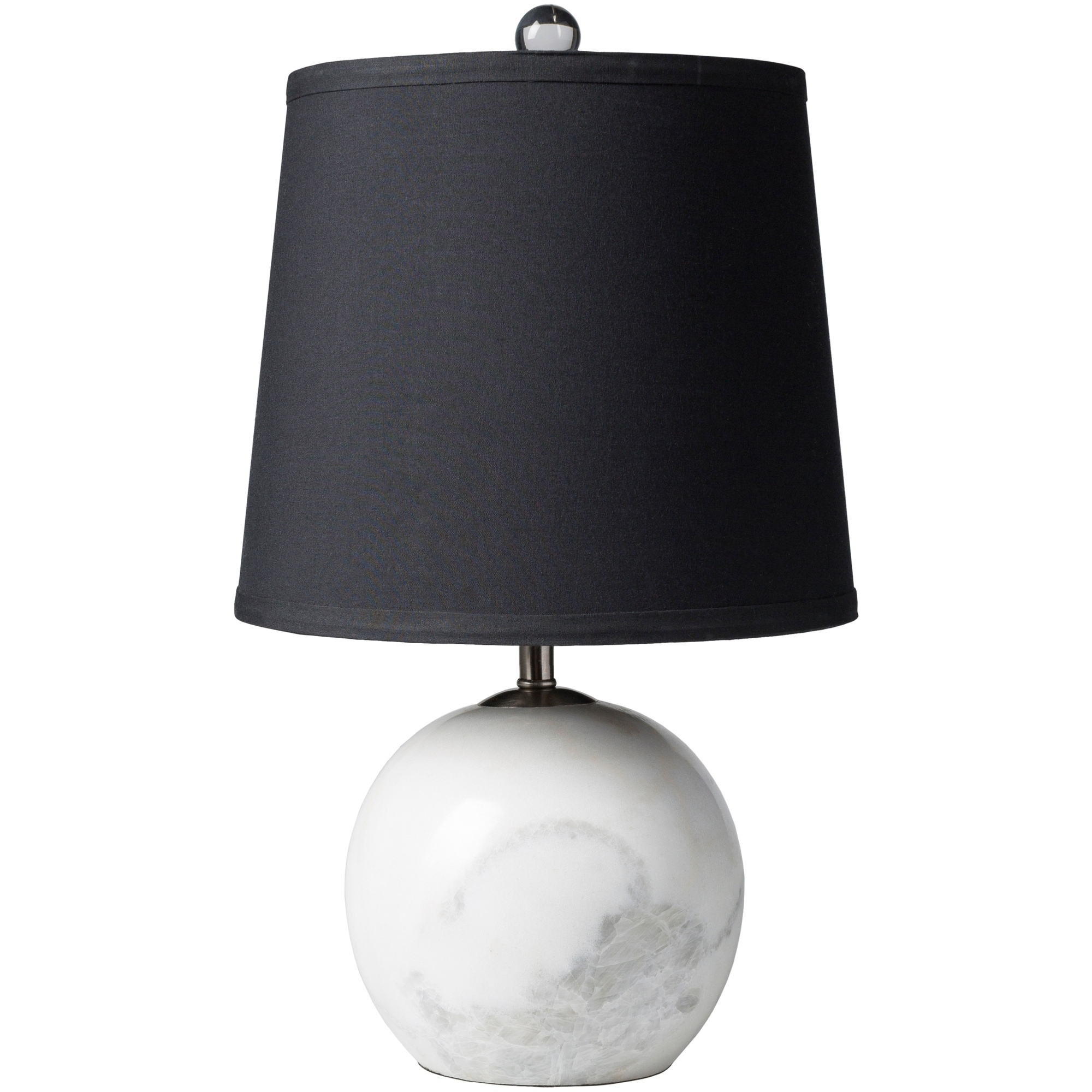 SURYA Zaguide Table Lamp with White Base and Black Shade ...