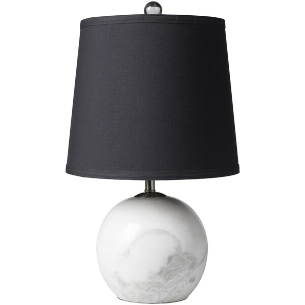 Zaguide Table Lamp with White Base and Black Shade