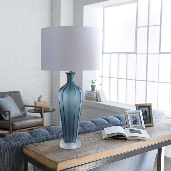 Kaelma Table Lamp with Grey Base and White Shade