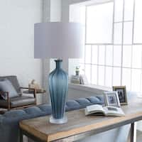 Kaelma Table Lamp with Grey Base and White Shade