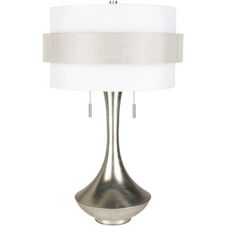 Osric Table Lamp with Silver Base and White Shade