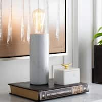 Maedriel Table Lamp with Grey Base and N/A Shade