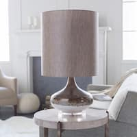 Seto Table Lamp with Brown Base and Beige Shade