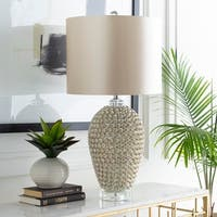 Nuyana Table Lamp with White Base and Gold Shade