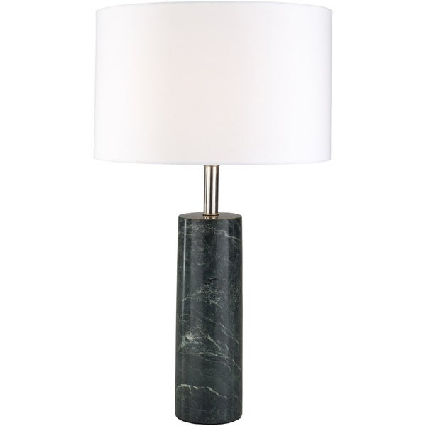 Effaroh Table Lamp with Green Base and White Shade
