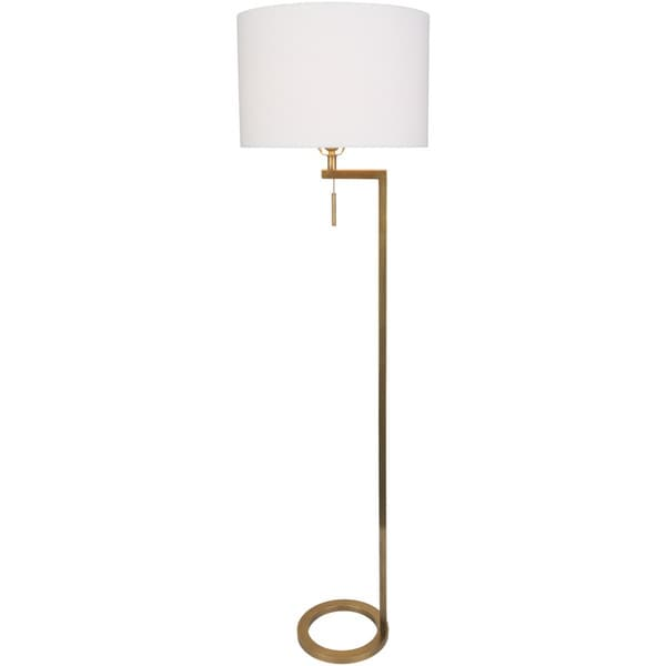 Niyse Table Lamp with Gold Base and White Shade