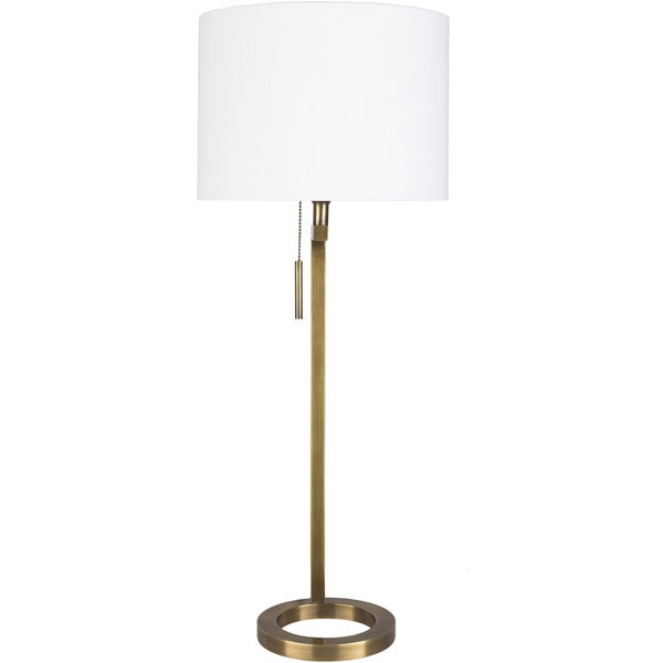 Gavvan Table Lamp with Gold Base and White Shade