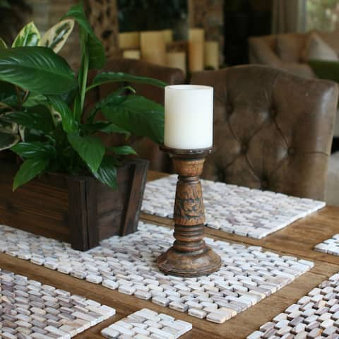 Handmade Hip-O Modern Living White Wash Finish Rosewood Table Runner (Indonesia)