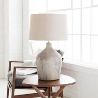 Beldrea Table Lamp with Beige Base and Beige Shade