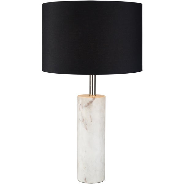 Soren Table Lamp with White Base and Black Shade