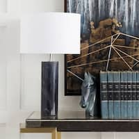 Ivianna Table Lamp with Black Base and White Shade