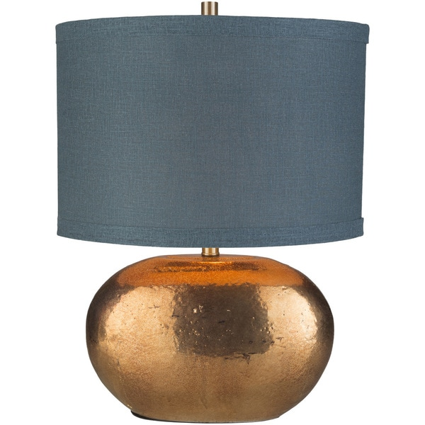 Relmeth Table Lamp with Gold Base and Green Shade