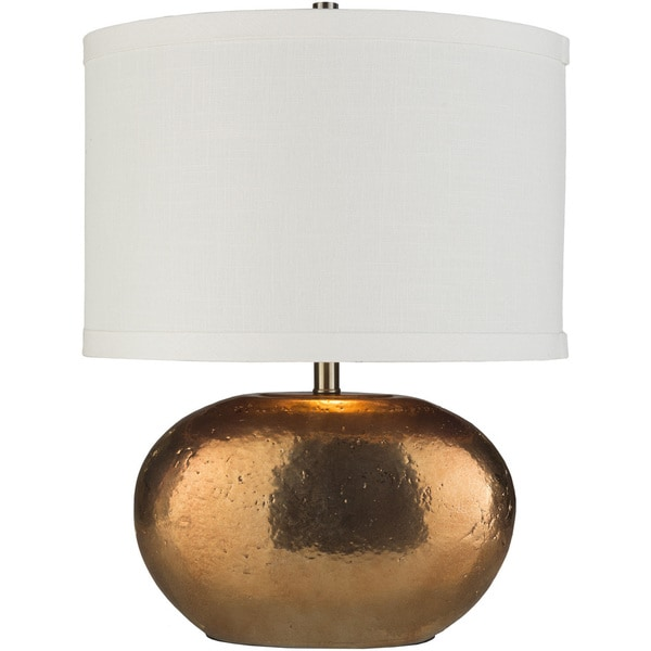 Sapurtum Table Lamp with Gold Base and White Shade