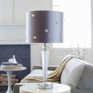 Whitely Table Lamp with Silver/Clear Base and Silver Shade