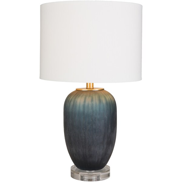 Sharsina Table Lamp with Blue Base and Black Shade