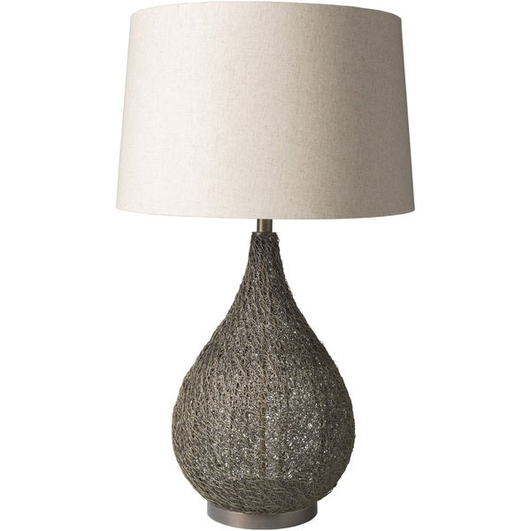 Zumaia Table Lamp with Brown Base and Beige Shade